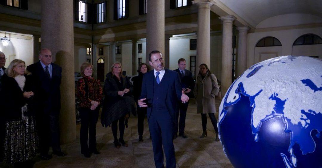 WePlanet il globo di Antonio Mele a Banca Galileo