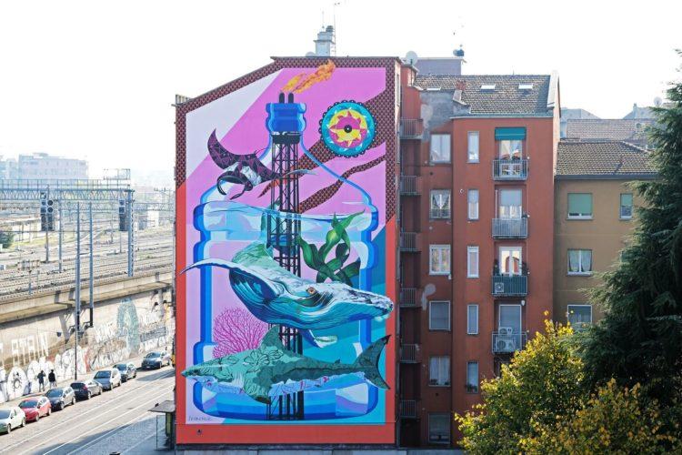 Anthropoceano: il murale mangia smog