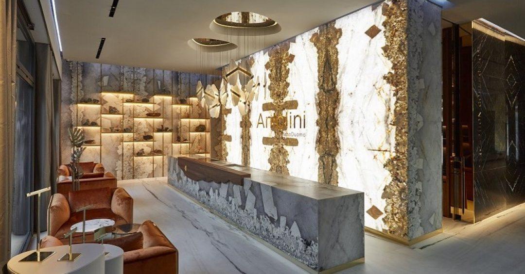 Stoneroom Antolini: la pietra diventa showroom